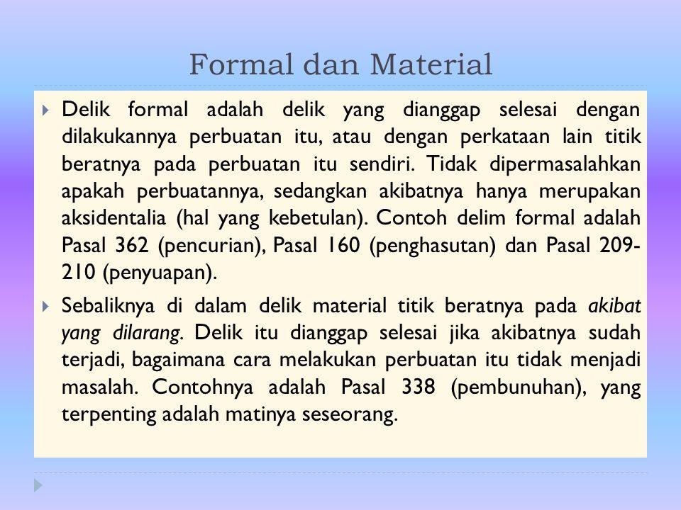 Formal dan Material