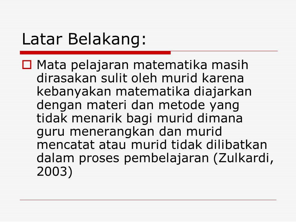 Latar Belakang: