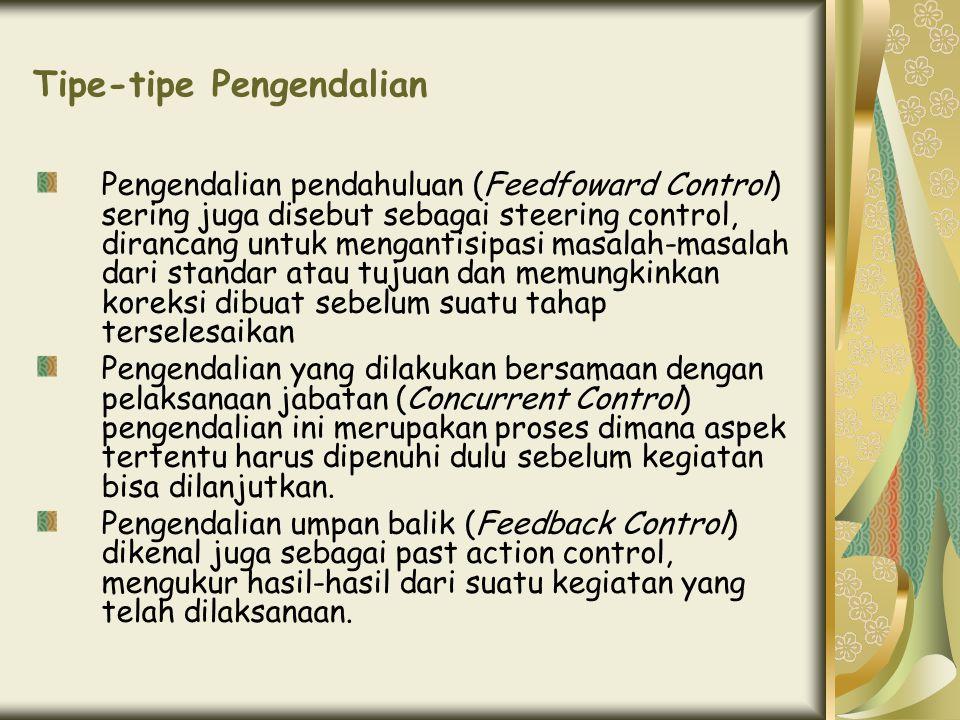 Tipe-tipe Pengendalian