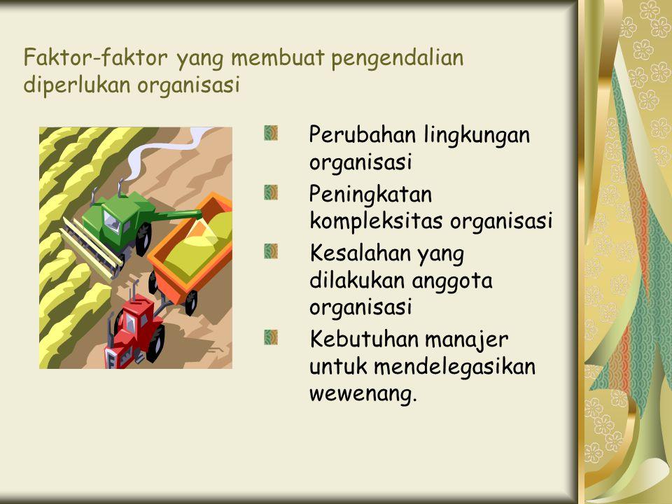 Faktor-faktor yang membuat pengendalian diperlukan organisasi