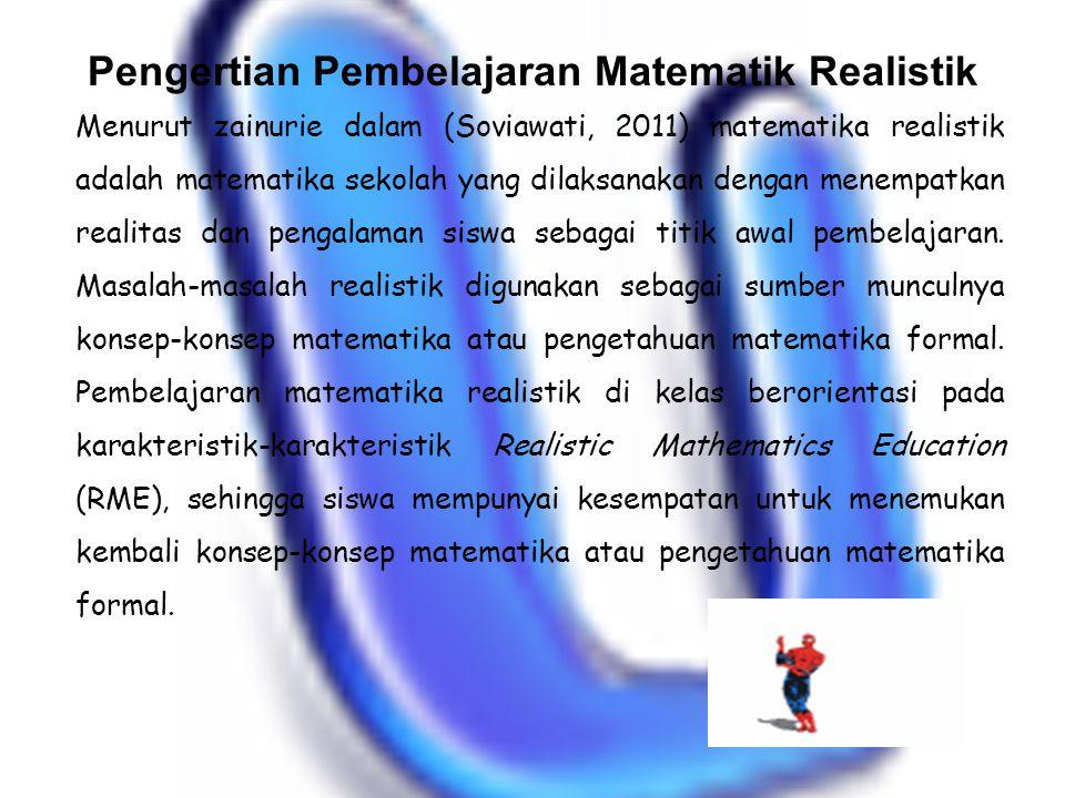 Pengertian Pembelajaran Matematik Realistik