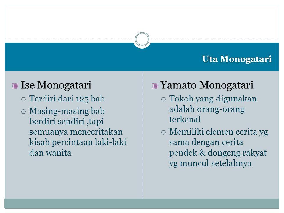 Ise Monogatari Yamato Monogatari Uta Monogatari Terdiri dari 125 bab