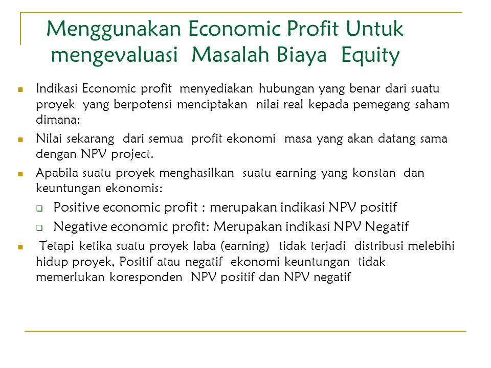 Menggunakan Economic Profit Untuk mengevaluasi Masalah Biaya Equity