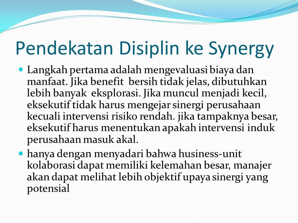 Pendekatan Disiplin ke Synergy