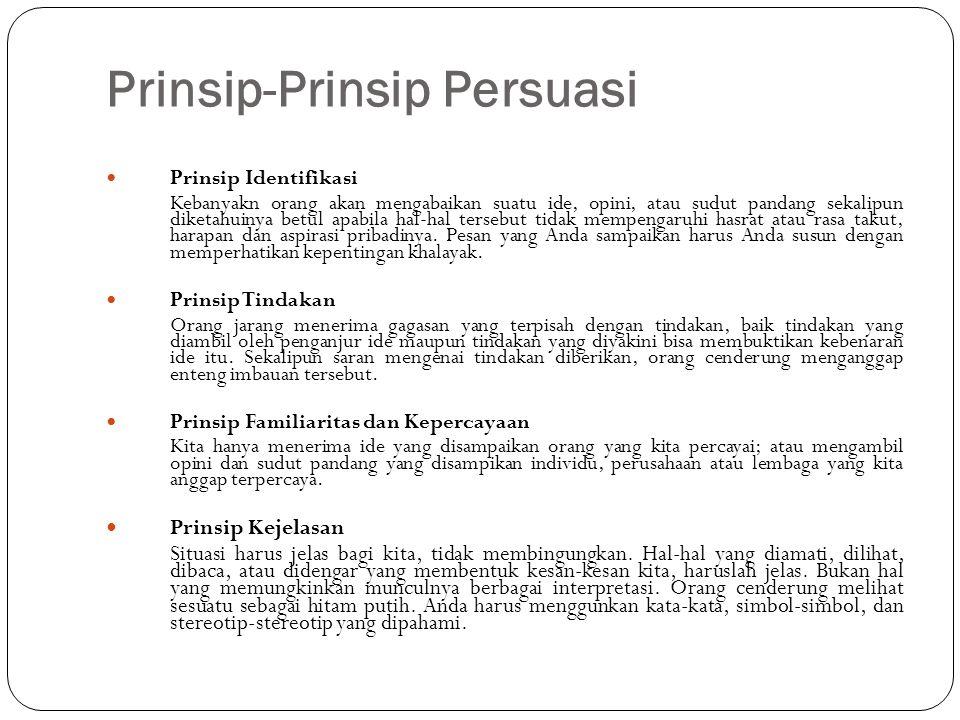 Prinsip-Prinsip Persuasi