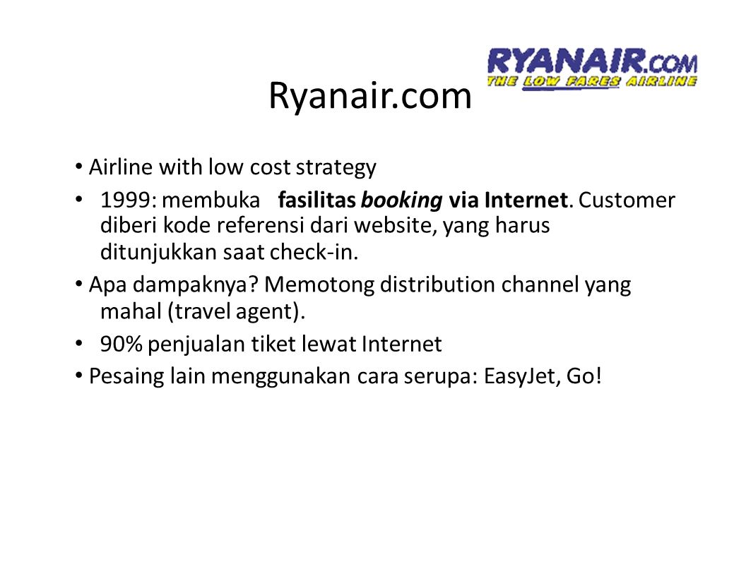 Ryanair.com • Airline with low cost strategy