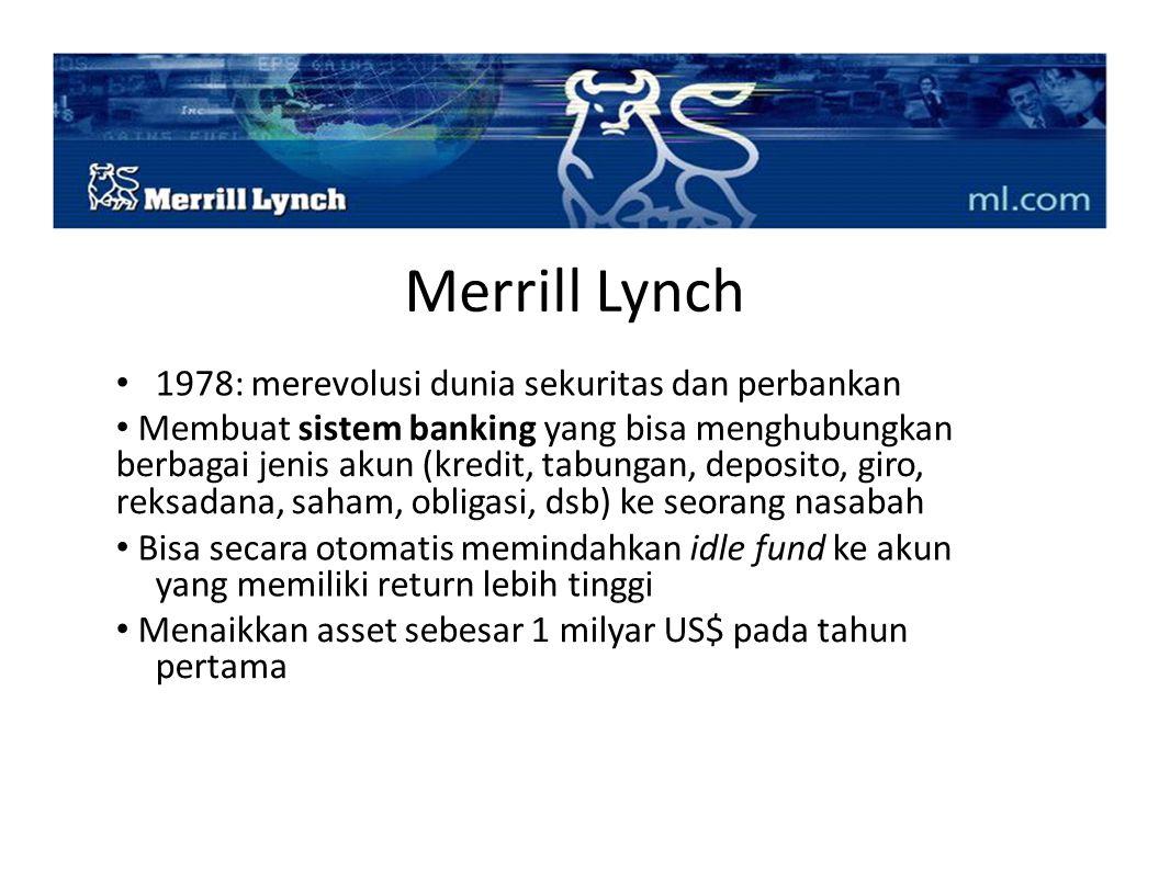 Merrill Lynch • 1978: merevolusi dunia sekuritas dan perbankan