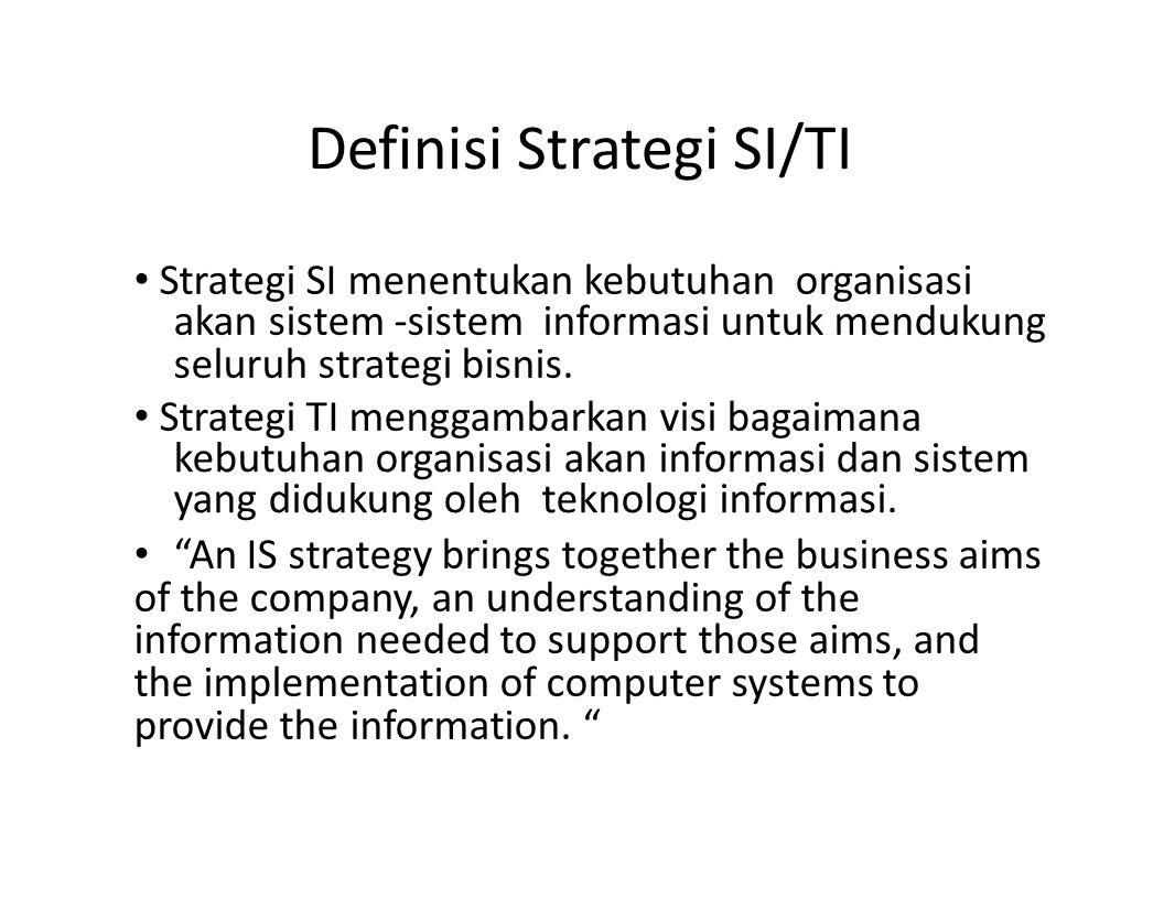 Definisi Strategi SI/TI
