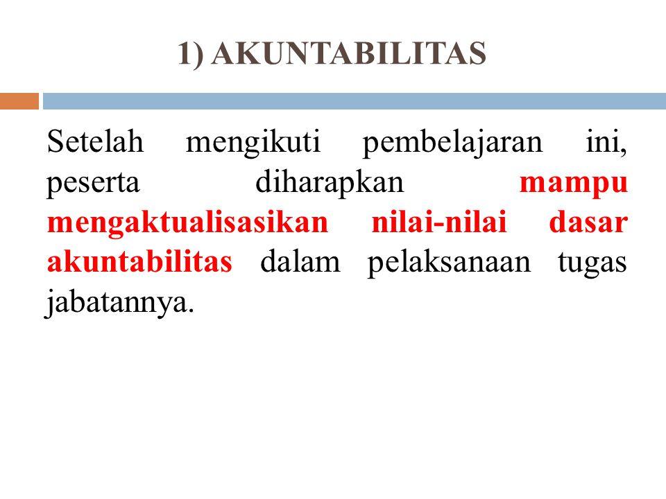 1) AKUNTABILITAS