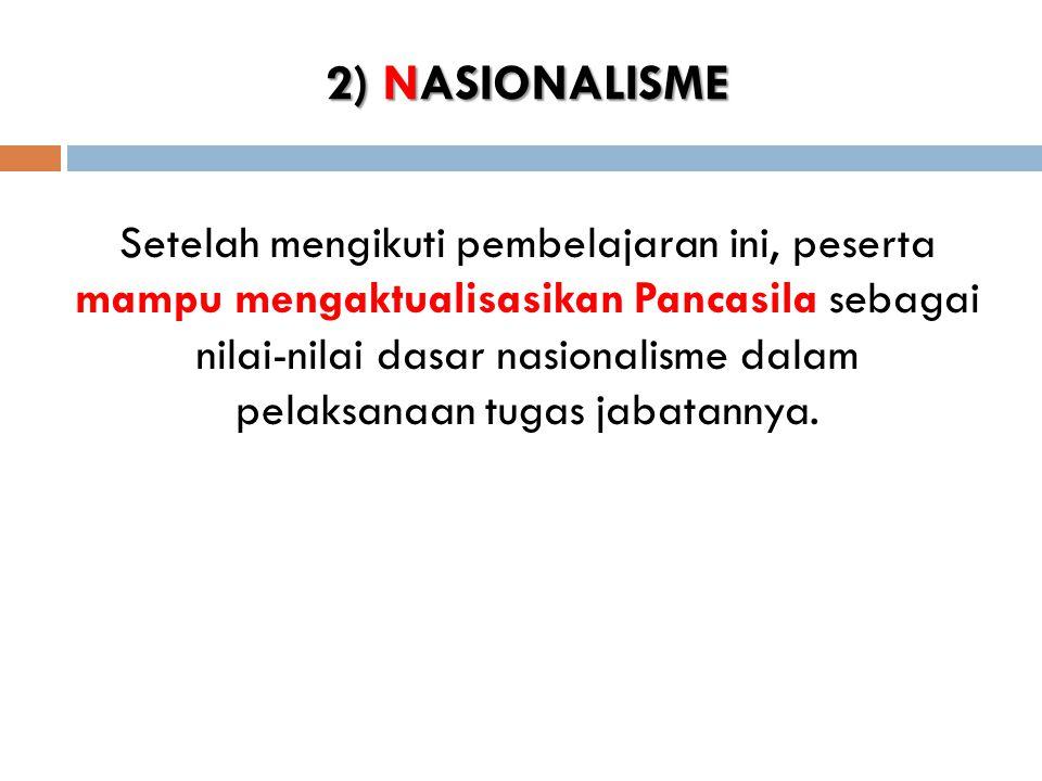 2) NASIONALISME