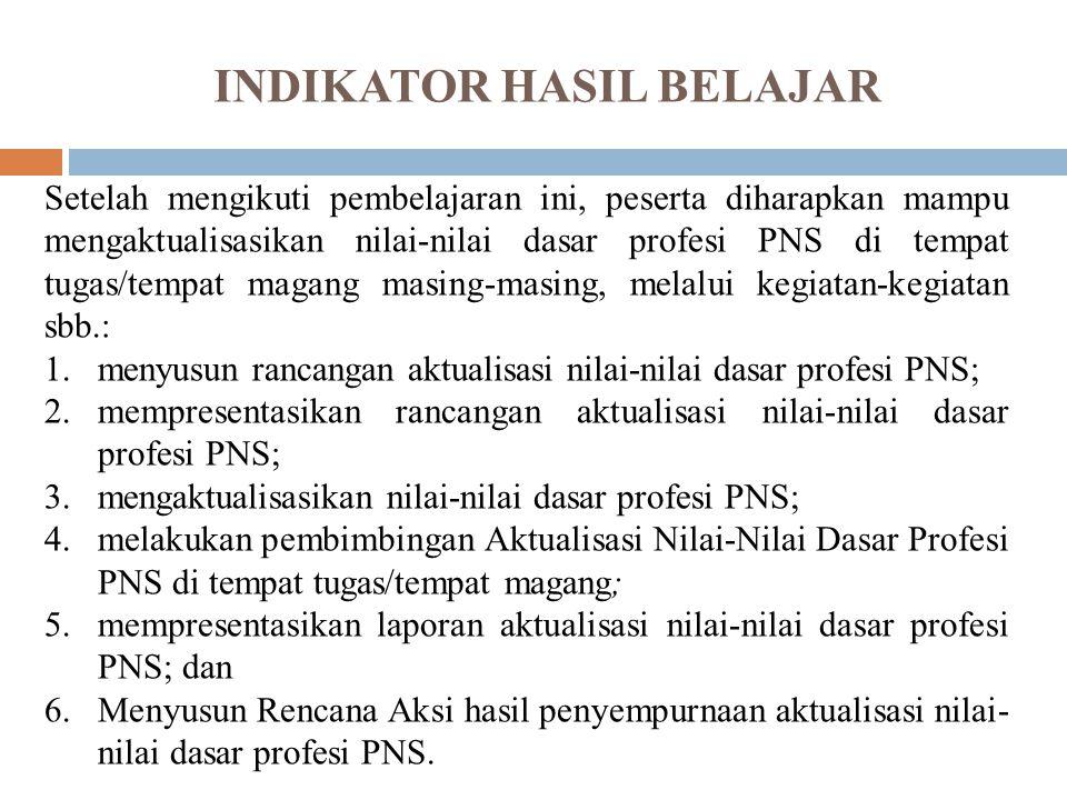 INDIKATOR HASIL BELAJAR