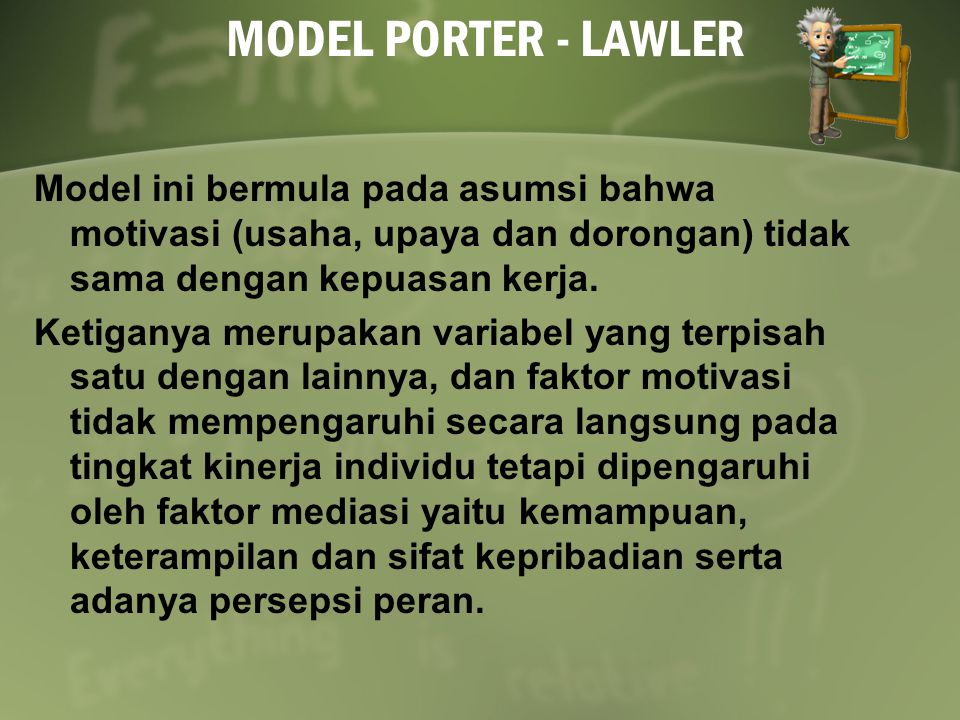 MODEL PORTER - LAWLER
