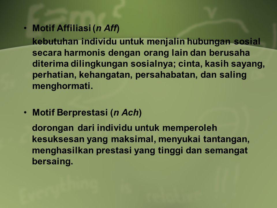 Motif Affiliasi (n Aff)