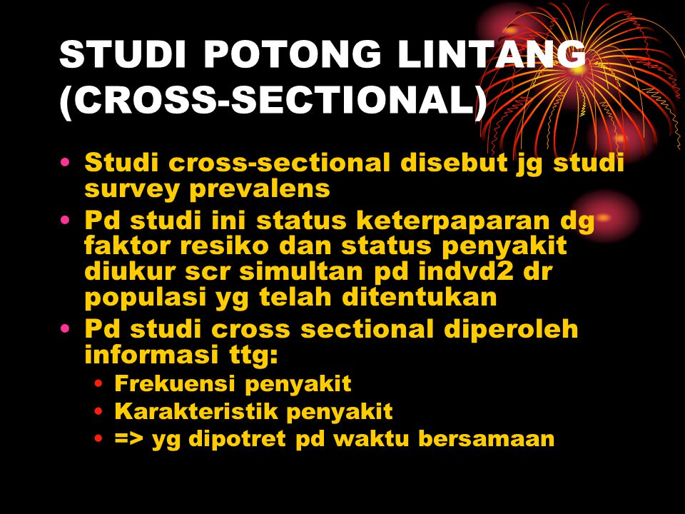 STUDI POTONG LINTANG (CROSS-SECTIONAL)