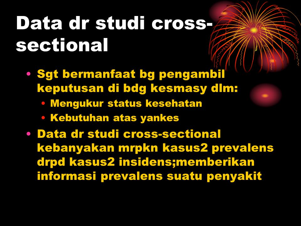 Data dr studi cross-sectional