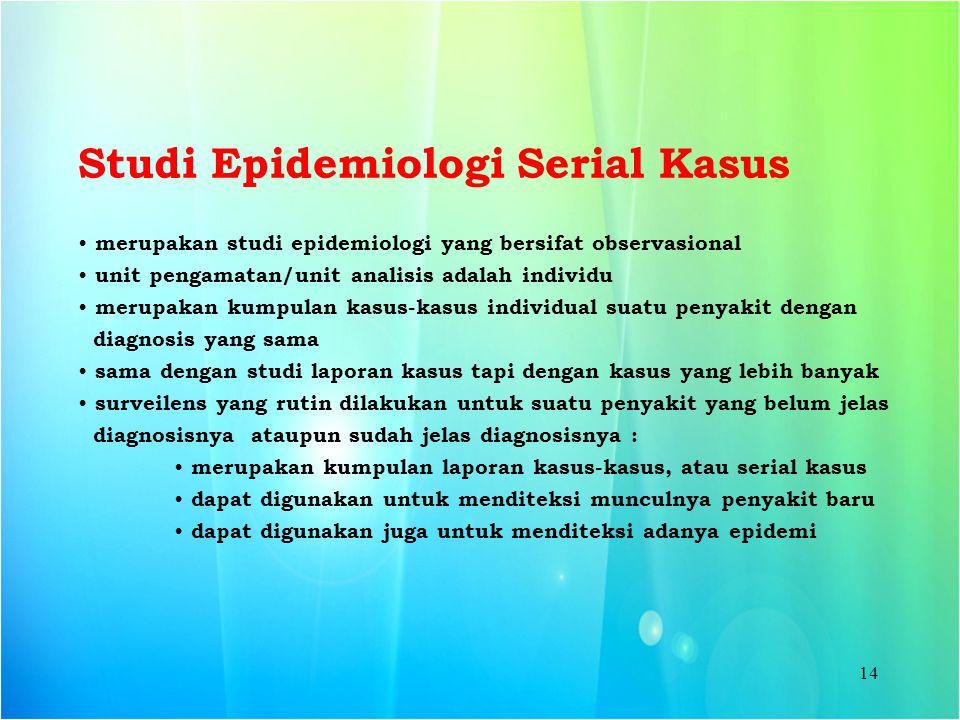 Studi Epidemiologi Serial Kasus