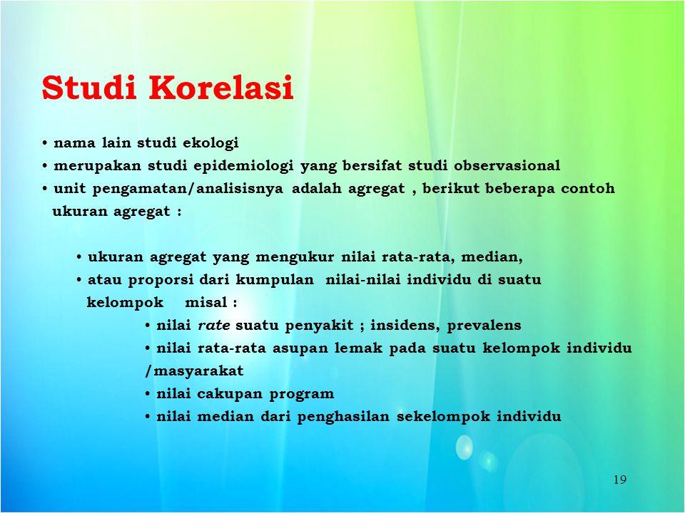 Studi Korelasi nama lain studi ekologi