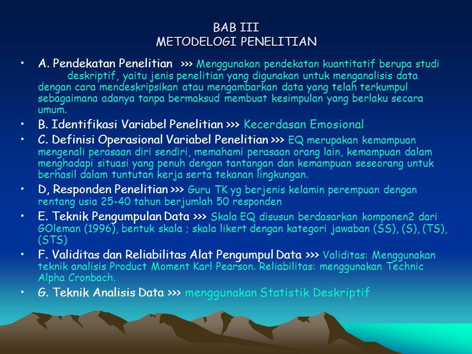 BAB III METODELOGI PENELITIAN