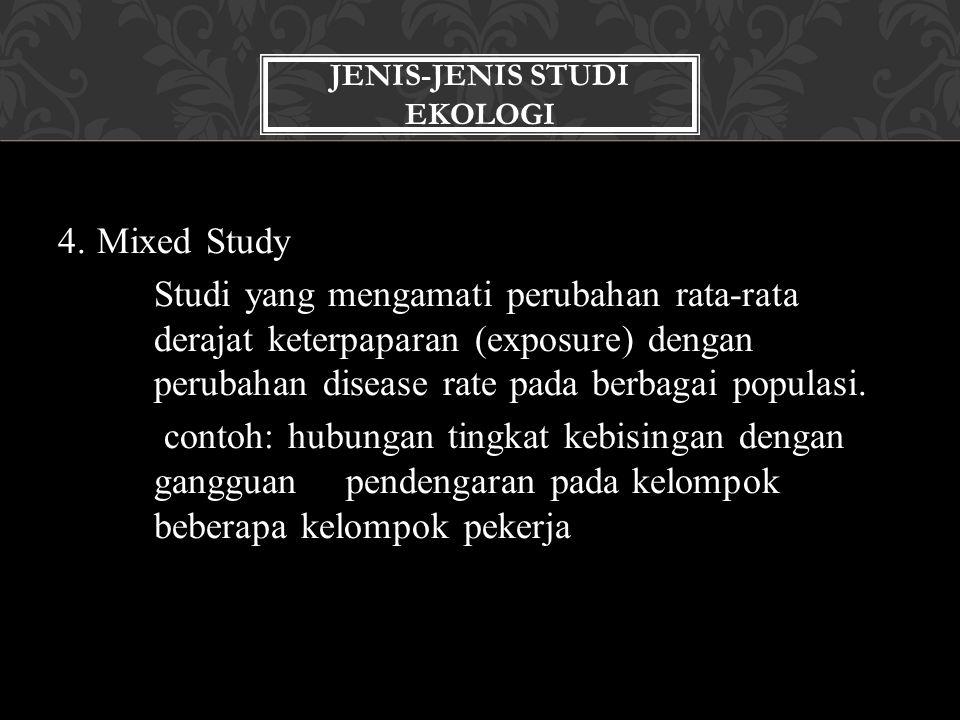 Jenis-jenis Studi Ekologi