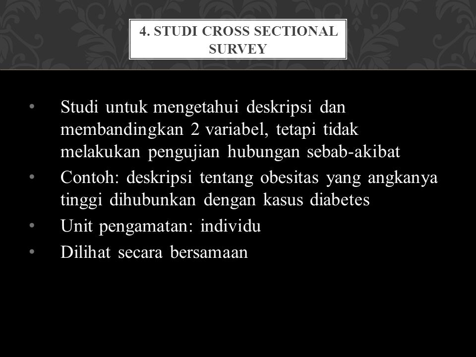 4. Studi CROSS SECTIONAL SURVEY