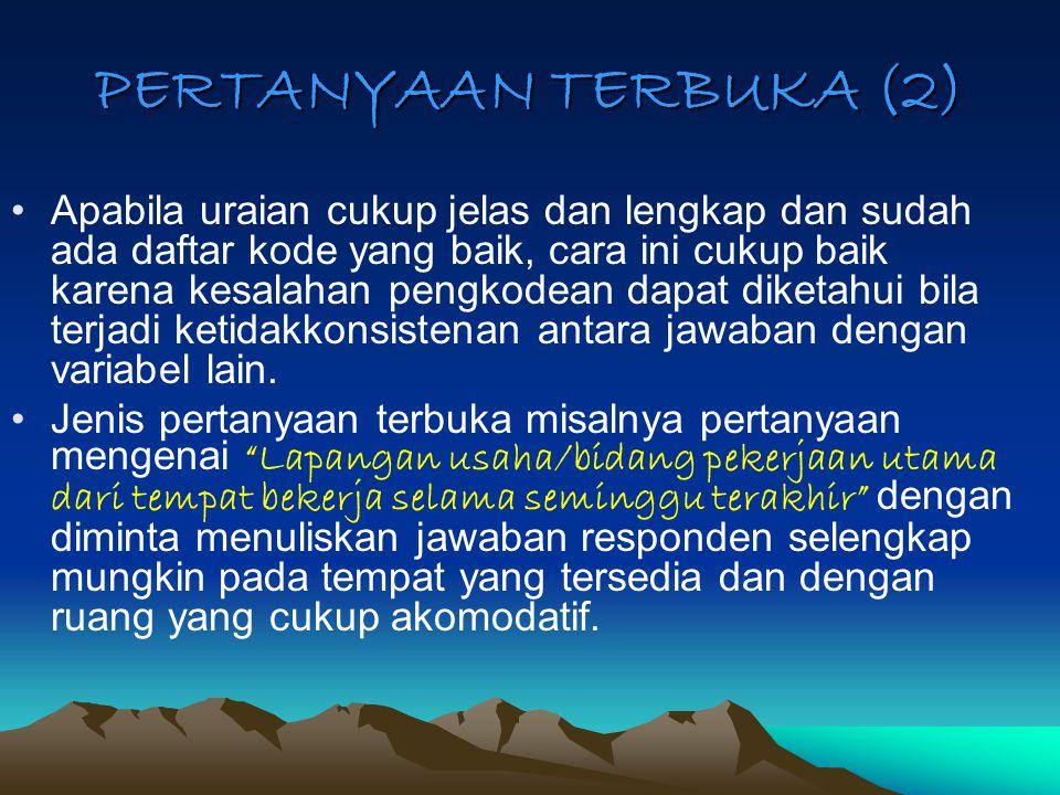 PERTANYAAN TERBUKA (2)