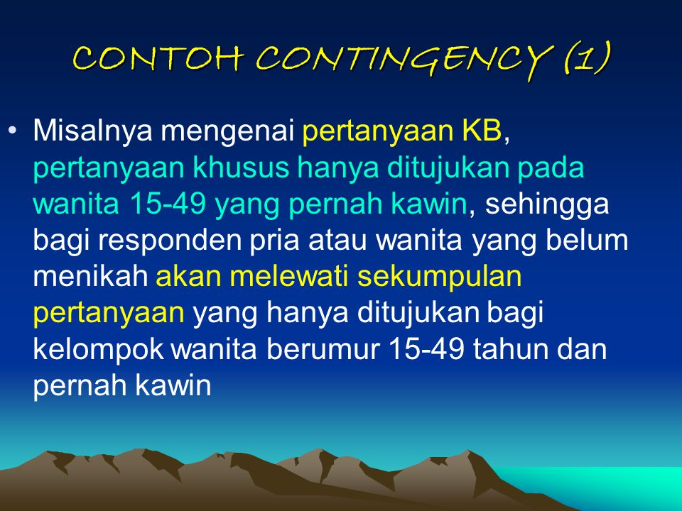 CONTOH CONTINGENCY (1)