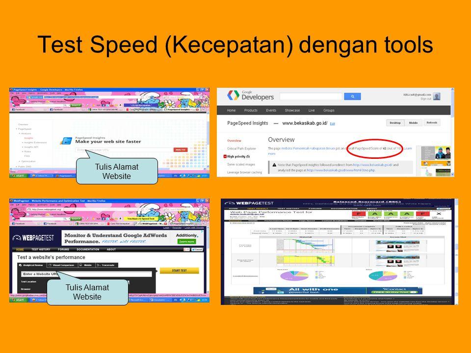 Test Speed (Kecepatan) dengan tools