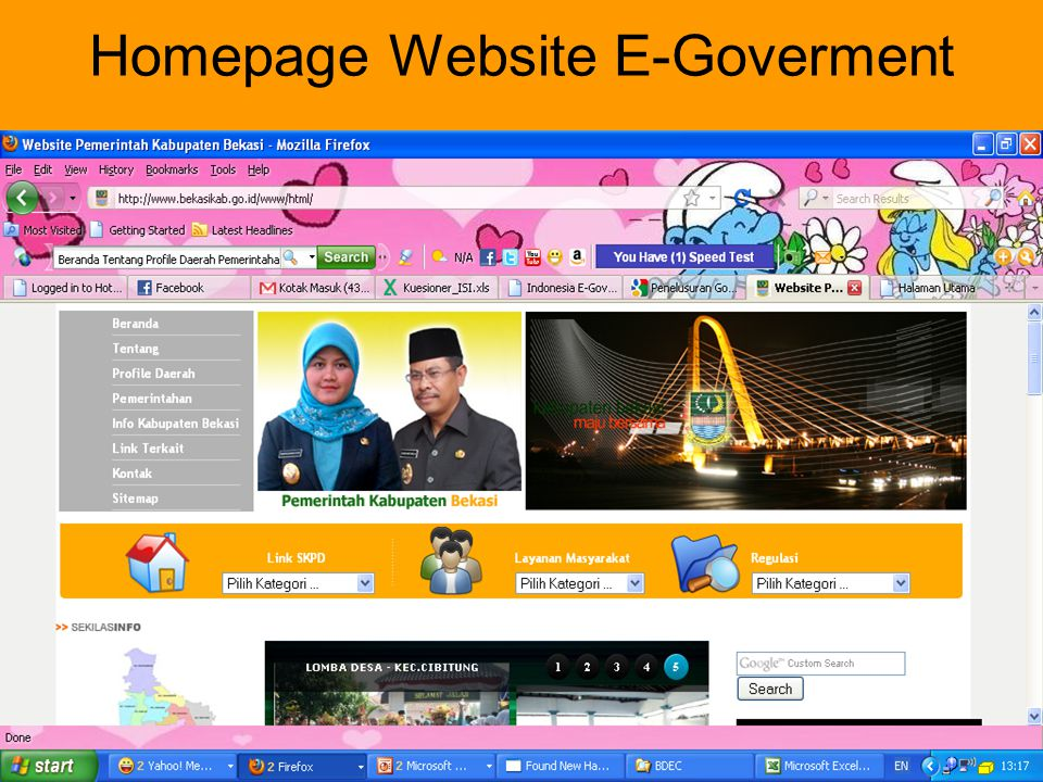 Homepage Website E-Goverment