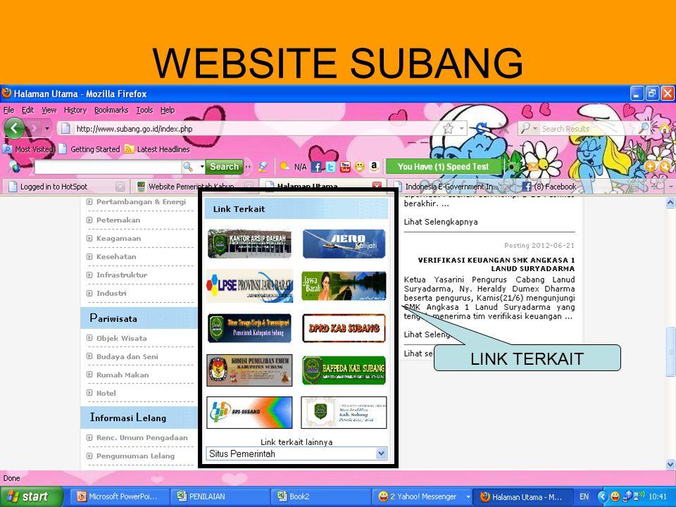 WEBSITE SUBANG VISI MISI LAYANAN LINK TERKAIT