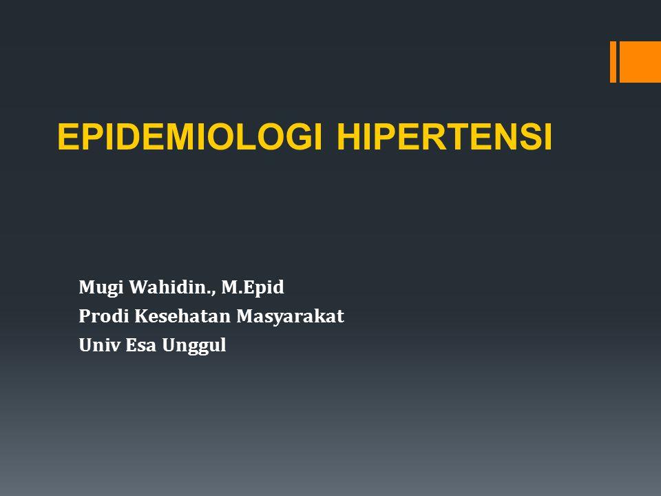 Mugi Wahidin., M.Epid Prodi Kesehatan Masyarakat Univ Esa Unggul