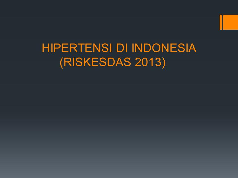 HIPERTENSI DI INDONESIA (RISKESDAS 2013)