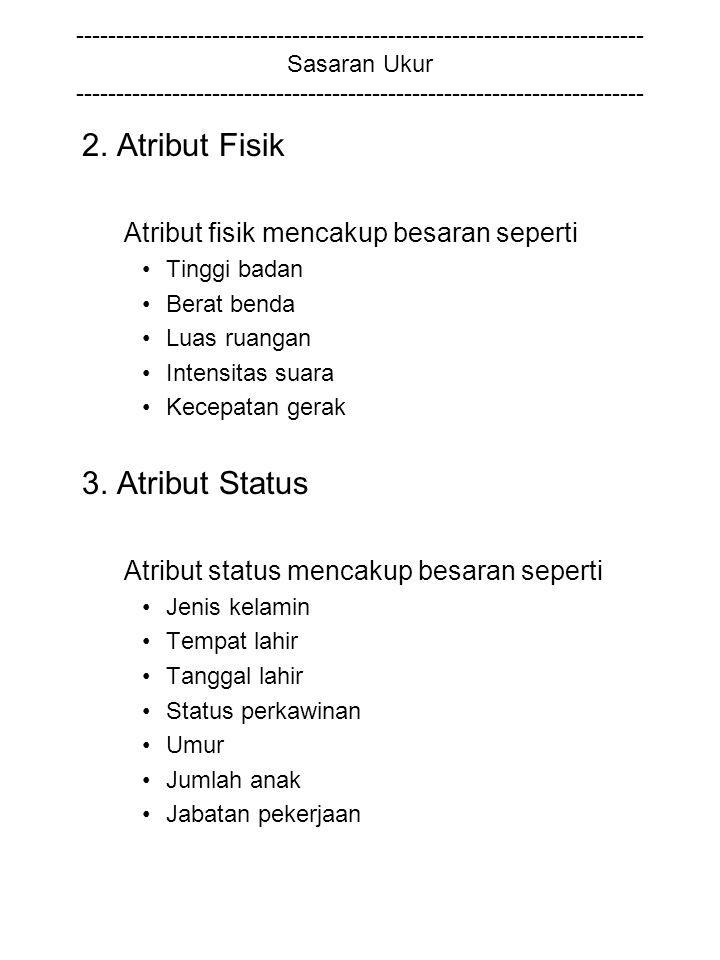 2. Atribut Fisik 3. Atribut Status