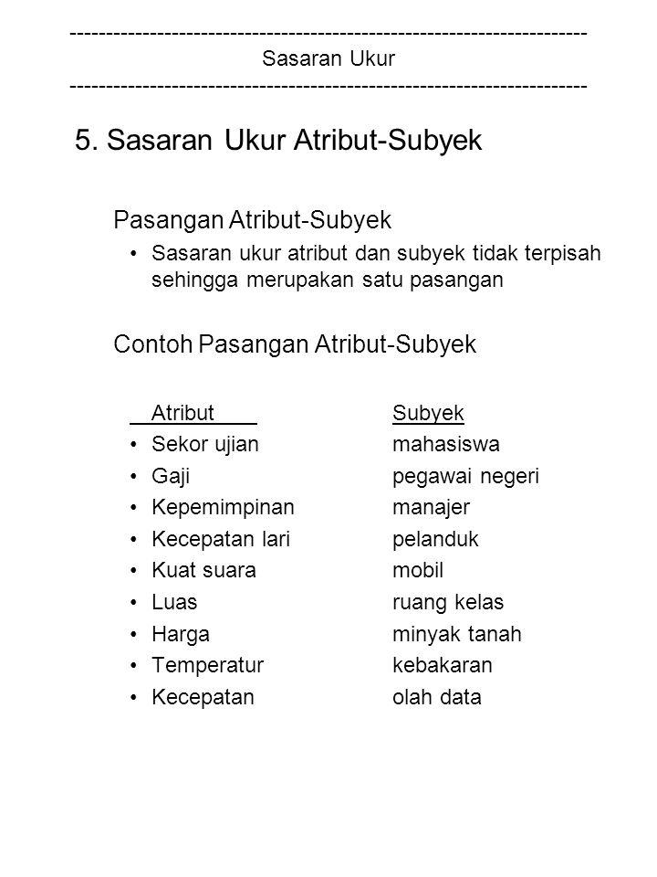 5. Sasaran Ukur Atribut-Subyek