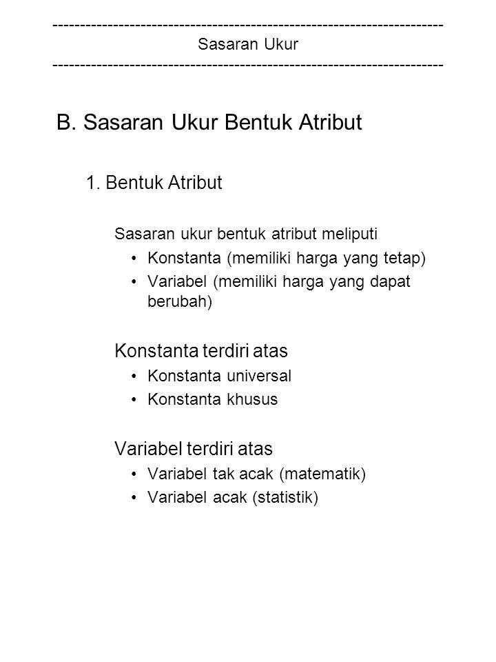 B. Sasaran Ukur Bentuk Atribut