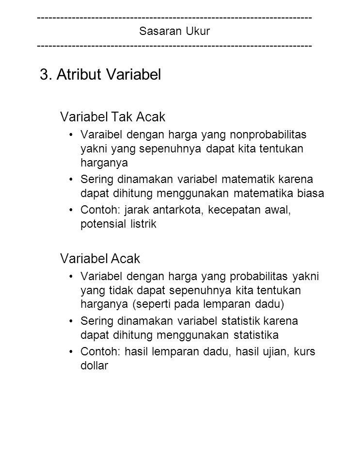 3. Atribut Variabel Variabel Tak Acak Variabel Acak