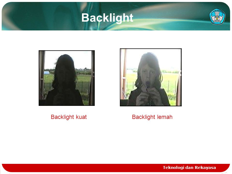 Backlight Backlight kuat Backlight lemah Teknologi dan Rekayasa