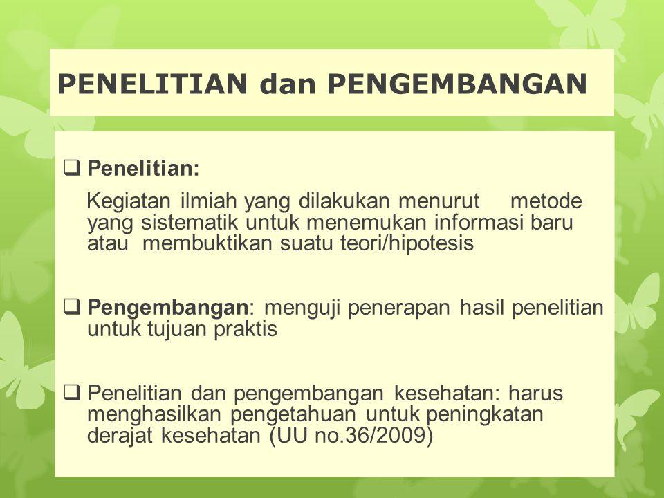 PENELITIAN dan PENGEMBANGAN
