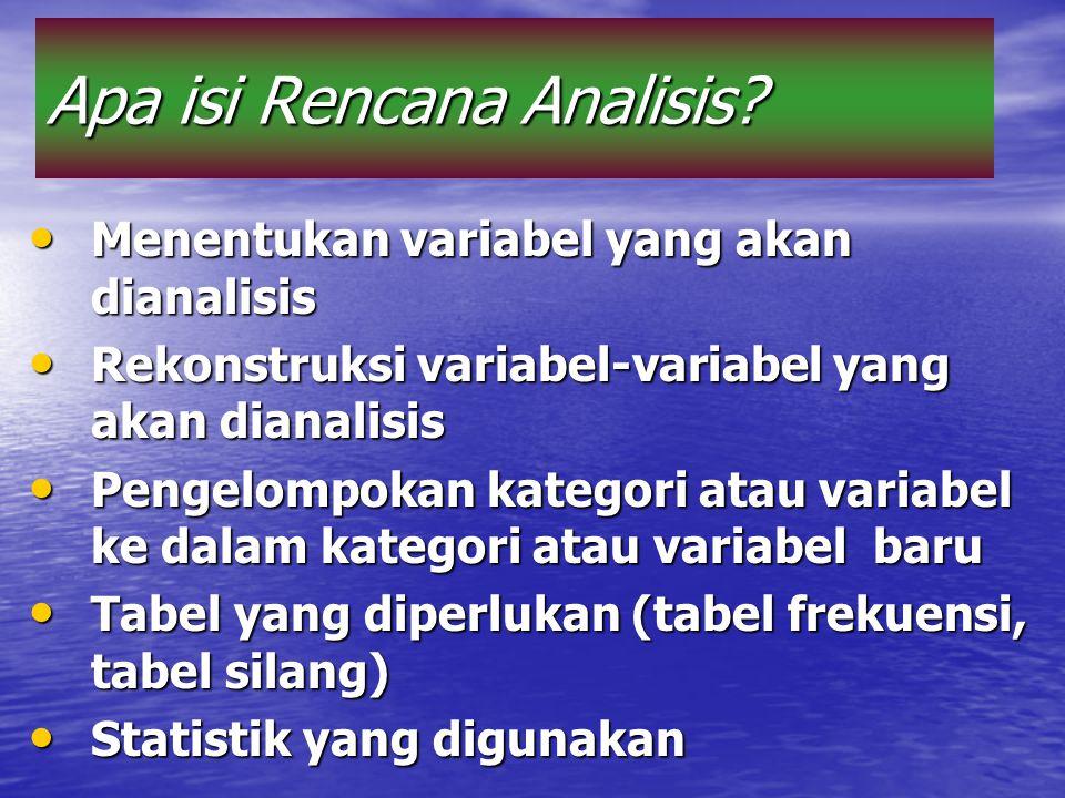 Apa isi Rencana Analisis