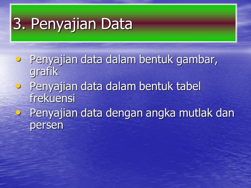 3. Penyajian Data Penyajian data dalam bentuk gambar, grafik