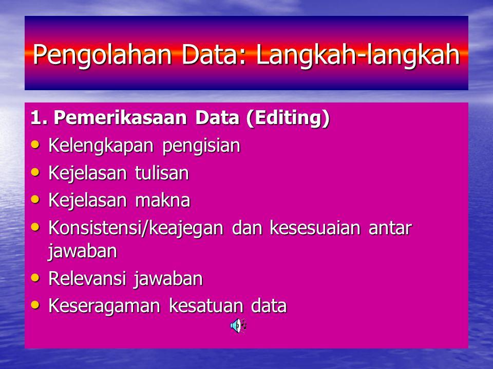 Pengolahan Data: Langkah-langkah