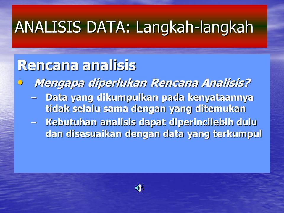 ANALISIS DATA: Langkah-langkah