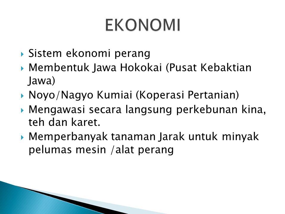 EKONOMI Sistem ekonomi perang