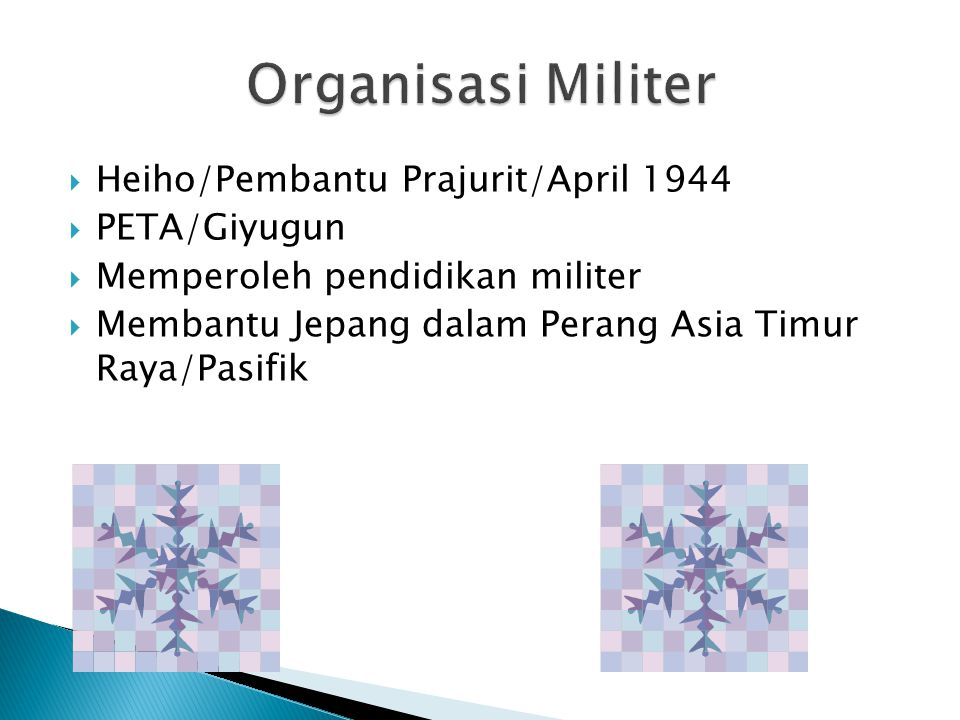 Organisasi Militer Heiho/Pembantu Prajurit/April 1944 PETA/Giyugun