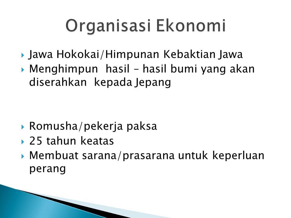 Organisasi Ekonomi Jawa Hokokai/Himpunan Kebaktian Jawa