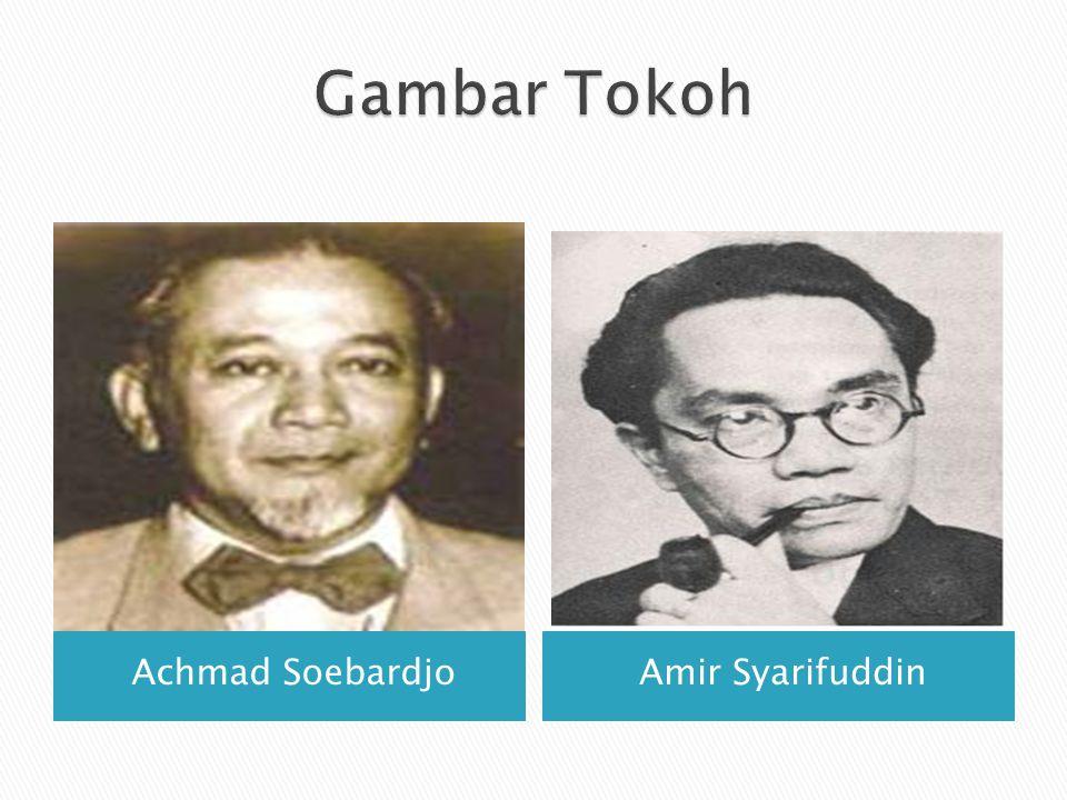 Gambar Tokoh Achmad Soebardjo Amir Syarifuddin
