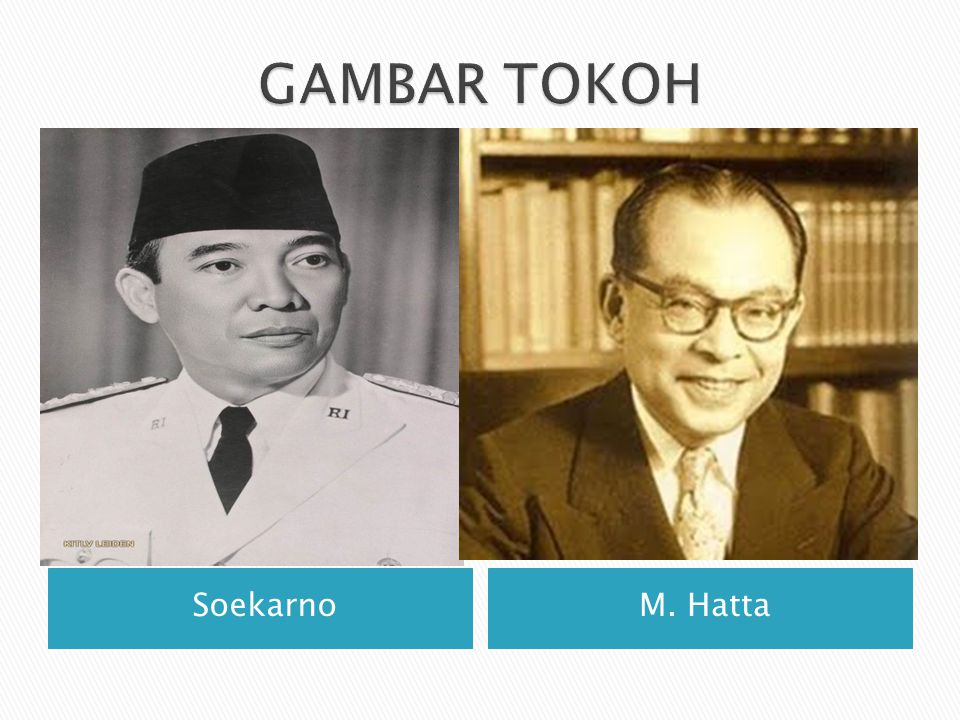 GAMBAR TOKOH Soekarno M. Hatta
