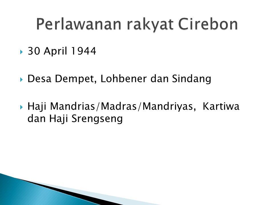 Perlawanan rakyat Cirebon