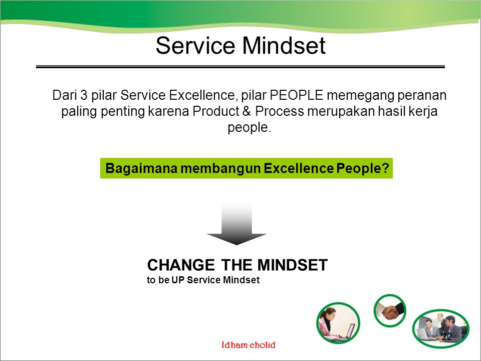 Service Mindset CHANGE THE MINDSET