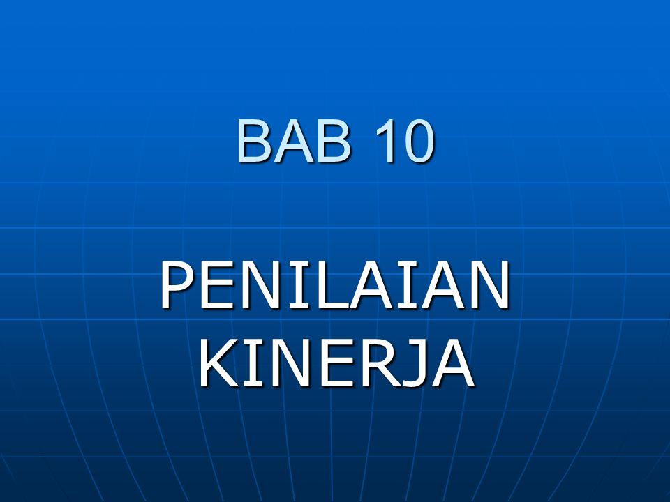 BAB 10 PENILAIAN KINERJA