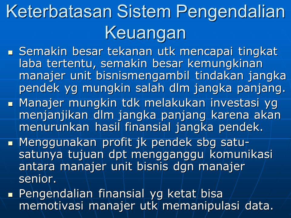 Keterbatasan Sistem Pengendalian Keuangan